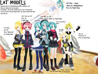 MMD: LAT Models DL by Purple-Rage
