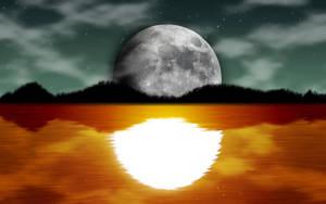 Sunset-Nightsky Wallpaper by n00biepl0x