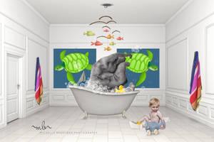 Elephant bath by MichellewBradford