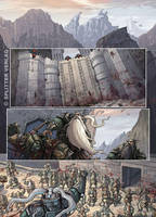 Die Zwerge ('The Dwarves') comic page 1 colored by che-rigas
