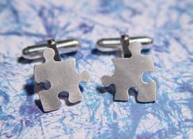 Puzzle cufflinks by StephaniePride