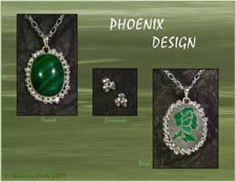 Green Rose Set by StephaniePride