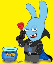 Mega blue Rabbid mind by GarfieldXRabbid