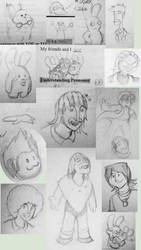 Doodles every where by GarfieldXRabbid
