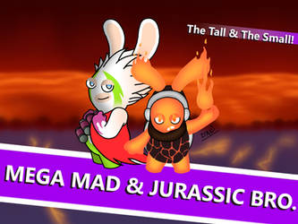Mega Mad and Jurassic Bro. by GarfieldXRabbid