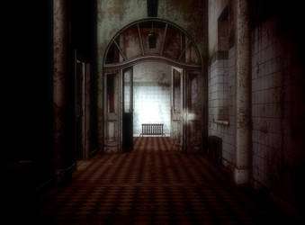 abandoned asylum room by Ecathe