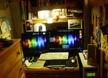 My workspace, May 4 2010 by JM-DG