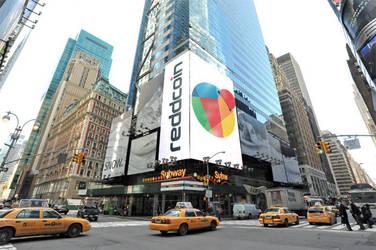 Reddcoin banners in NY by reddibrek