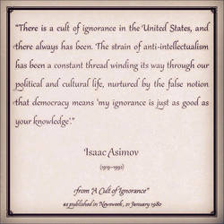 Isaac Asimovs Cult of Ignorance by TripleGemini