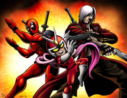 MvC3 - Red Hot Devils by Mystic-Forces
