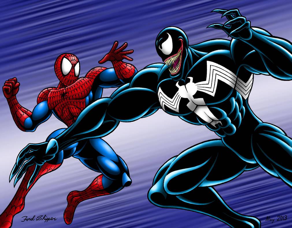 Spider Man Vs Venom Commission By Mystic Forces On Deviantart