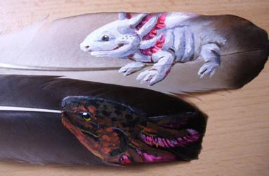 amphibian feathers by Karrakas