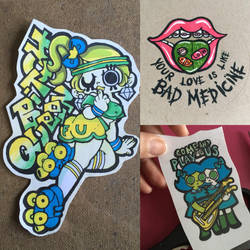 Home made stickers by AtomicBunny