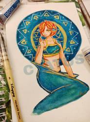 Nixie- the shark lady by Cyatus