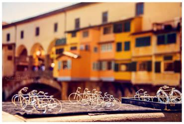 Bikes at Ponte Vecchio by eileenel