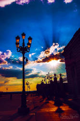 Sunset in Madrid by eileenel