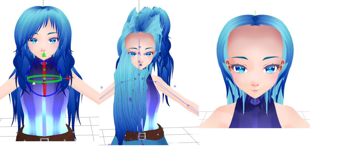 Mmd hair on deviantart jpg 1371x583 Mmd mixed pov
