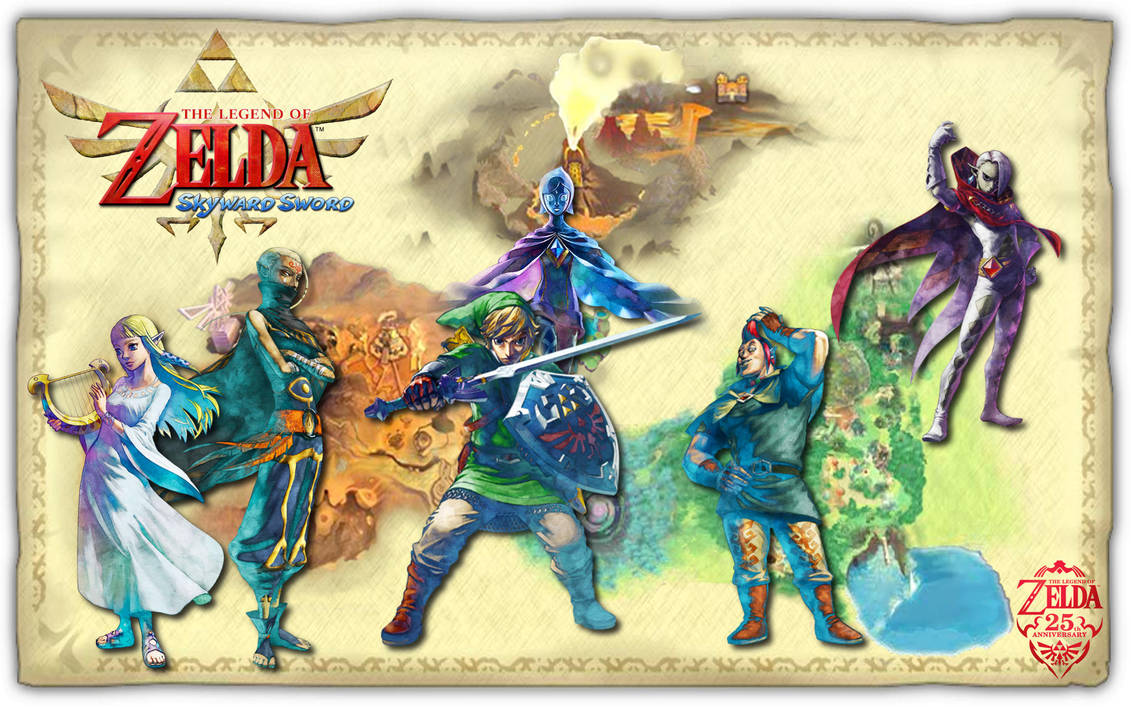 Legend Of Zelda Skyward Sword Wallpaper Remake By Stellathecat12