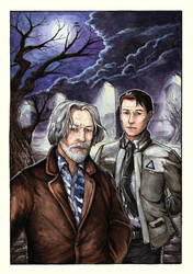 DBC Hank and Connor by Ksenia-B