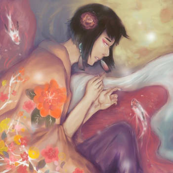 A Thousand Blossoms by kit-su-ne