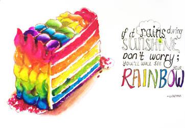 Rainbow Cake by kit-su-ne
