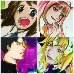Sketch cards Requests by kit-su-ne