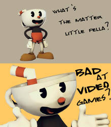 [Cuphead] What's The Matter Little Fella? by TheBlueDiamondKid