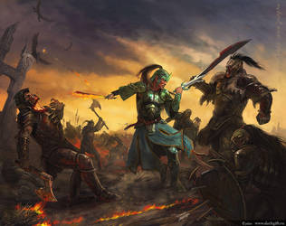 Great battle by Gellihana-art