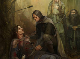 The Death of Boromir by Gellihana-art