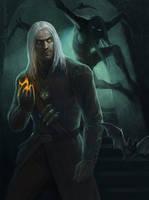 Geralt of Rivia by Gellihana-art