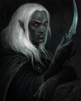 Drow by Gellihana-art