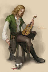 Drunk musician by Julaxart