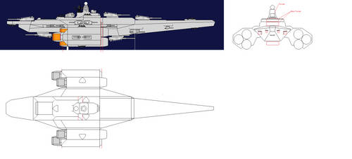Vertical View Vlaew Turrets + Bow View by Toby-Phealin