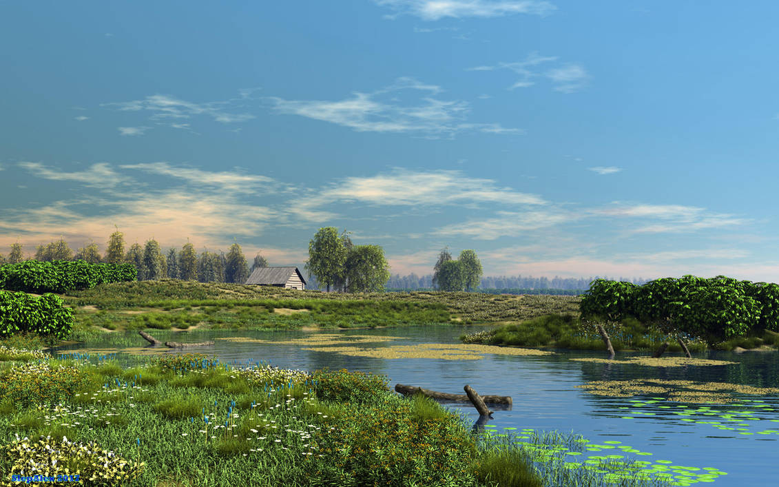 Deserted pond by slepalex