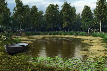 Overgrown Pond by slepalex