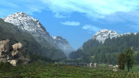 Small mountain lake by slepalex