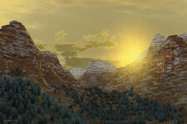 Dazzling sunset by slepalex