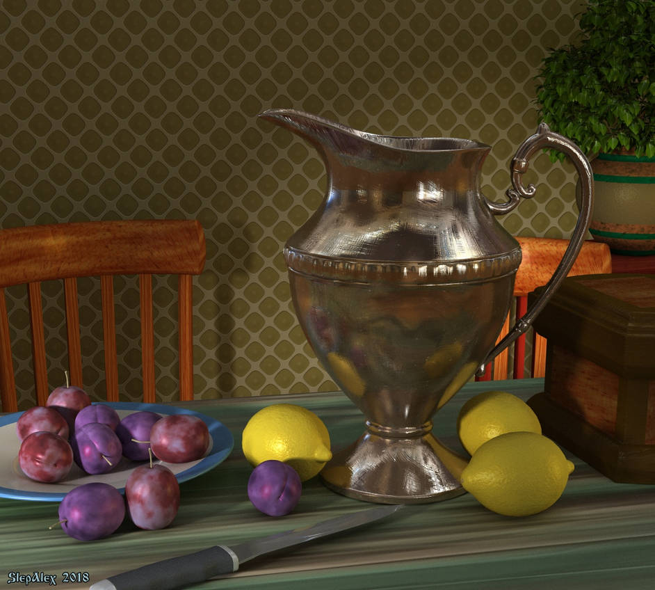 Still life with a pitcher by slepalex