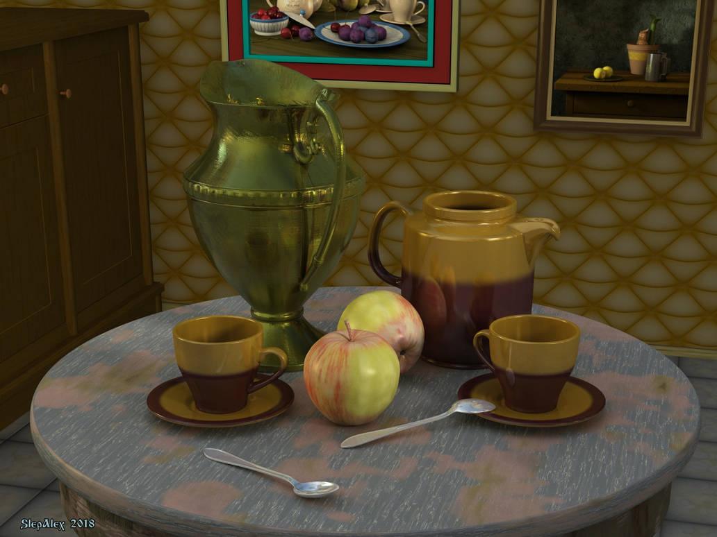 Still life with ceramics by slepalex