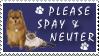 Spay And Neuter Stamp by stampsbyjesper