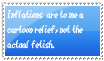 Inflation is a comic relief to me stamp by Aso-Designer