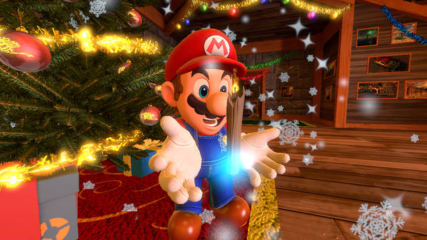 (SFM) Christmas posters: Mario's Once upon a Xmas by Aso-Designer