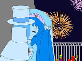 King Otis and Queen Olymphia's 4th of July Kiss by dannichangirl