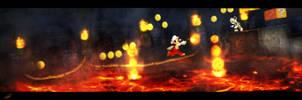 Super Mario castle level by T-E-A-F
