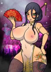 Cyberpunk - Daofeng Qingfu (Blade Mistress) by ColdSixthousand