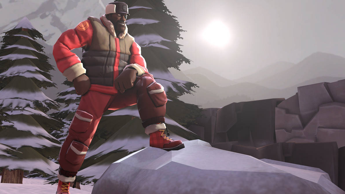 Demoman takes his ballistic vest off for once by Dafuqer7
