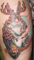 Jackalope Owl by XeviousTheGreat