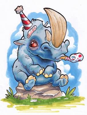 Party Rhino by XeviousTheGreat