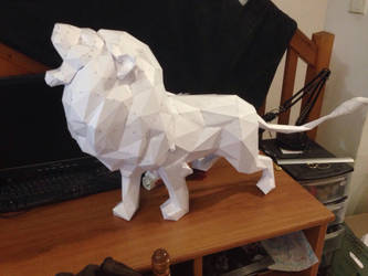 #lion papercraft by enigmael