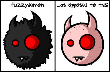 Shaved Demon --fd by fuzzydemon